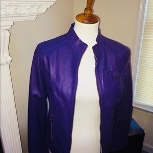 Arden B Jackets & Coats - Arden B brand  Purple Lamb leather jacket 🧥